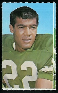 Fred Brown 1969 Glendale Stamps football card
