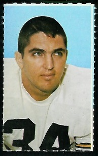 Andy Russell 1969 Glendale Stamps football card