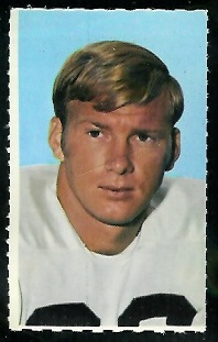 J.R. Wilburn 1969 Glendale Stamps football card