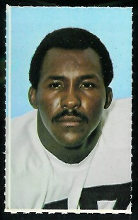 Marv Woodson 1969 Glendale Stamps football card