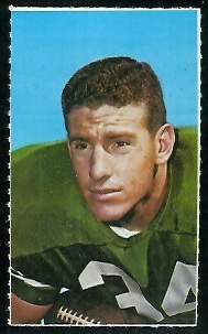Earl Gros 1969 Glendale Stamps football card
