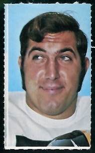 Larry Gagner 1969 Glendale Stamps football card