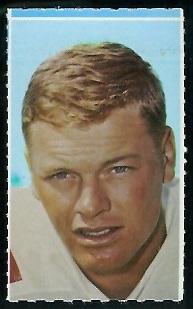 Jim Bakken 1969 Glendale Stamps football card