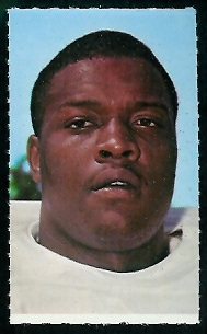 Ernie McMillan 1969 Glendale Stamps football card