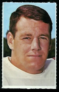Larry Stallings 1969 Glendale Stamps football card