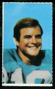 Lance Alworth 1969 Glendale Stamps football card
