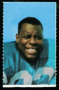 Willie Frazier 1969 Glendale Stamps football card
