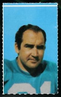 John Hadl 1969 Glendale Stamps football card