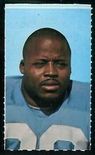 Brad Hubbert 1969 Glendale Stamps football card
