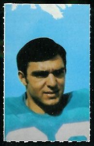 Dick Post 1969 Glendale Stamps football card