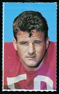 Ed Beard 1969 Glendale Stamps football card