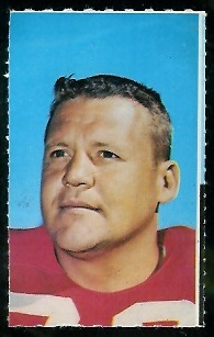 Charlie Krueger 1969 Glendale Stamps football card