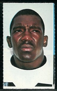 Jim Butler 1969 Glendale Stamps football card