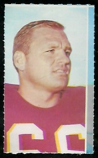 Carl Kammerer 1969 Glendale Stamps football card