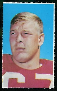 Walter Rock 1969 Glendale Stamps football card