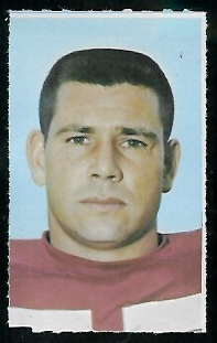 Chris Hanburger 1969 Glendale Stamps football card
