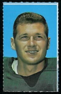 Tom Brown 1969 Glendale Stamps football card
