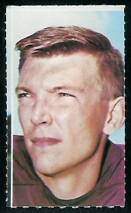 Pat Richter 1969 Glendale Stamps football card