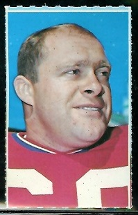 Len St. Jean 1969 Glendale Stamps football card