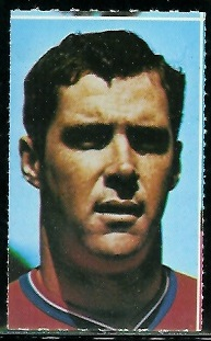 Mike Taliaferro 1969 Glendale Stamps football card