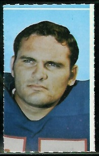 Stew Barber 1969 Glendale Stamps football card