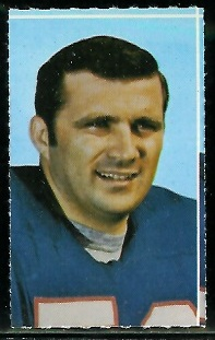 Al Bemiller 1969 Glendale Stamps football card