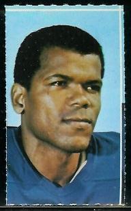 George Byrd 1969 Glendale Stamps football card