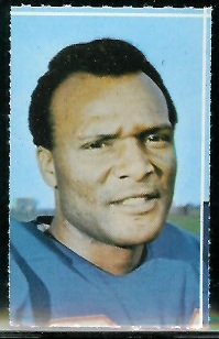 Booker Edgerson 1969 Glendale Stamps football card