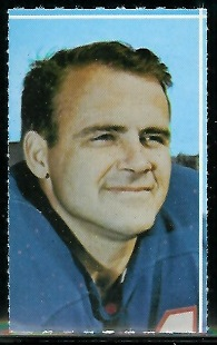 Harry Jacobs 1969 Glendale Stamps football card