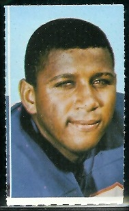 John Pitts 1969 Glendale Stamps football card