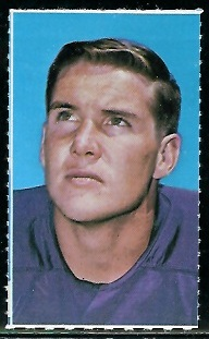 Paul Flatley 1969 Glendale Stamps football card