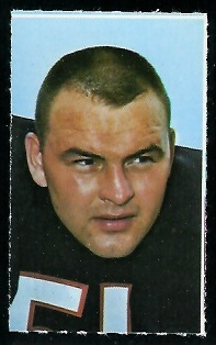 Dick Butkus 1969 Glendale Stamps football card