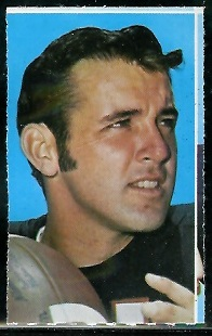 Jack Concannon 1969 Glendale Stamps football card