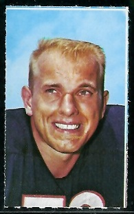 Dick Evey 1969 Glendale Stamps football card