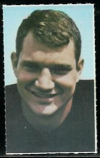 Bob Johnson 1969 Glendale Stamps football card