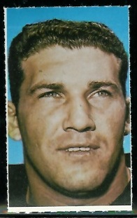 Gene Hickerson 1969 Glendale Stamps football card
