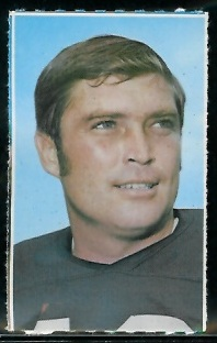 Bill Nelsen 1969 Glendale Stamps football card