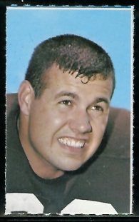 Jim Kanicki 1969 Glendale Stamps football card