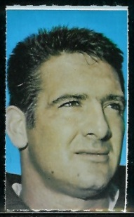 Dick Schafrath 1969 Glendale Stamps football card