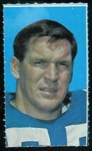 Lee Roy Jordan 1969 Glendale Stamps football card
