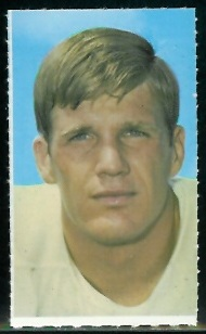 Lance Rentzel 1969 Glendale Stamps football card