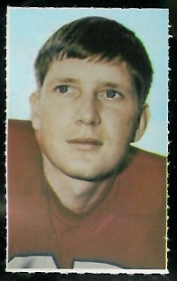 Tom Beer 1969 Glendale Stamps football card