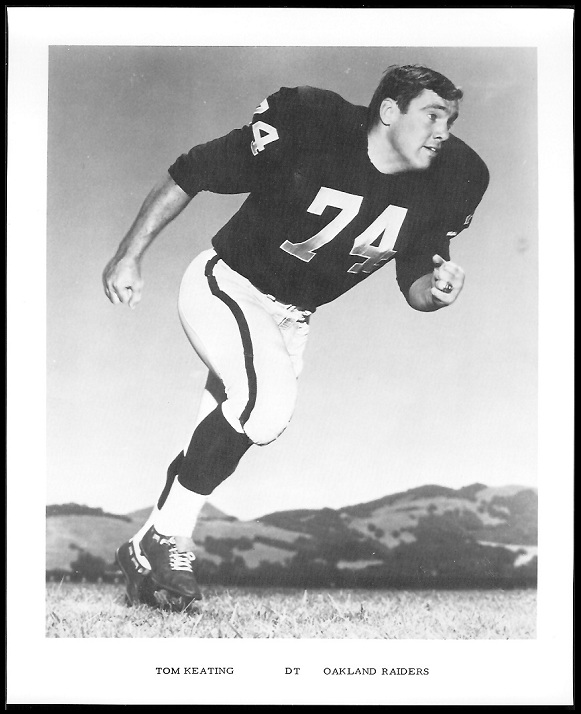 Tom Keating 1969 Raiders Team Issue football card