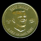 Dave Parks 1969 Saints Doubloons football card