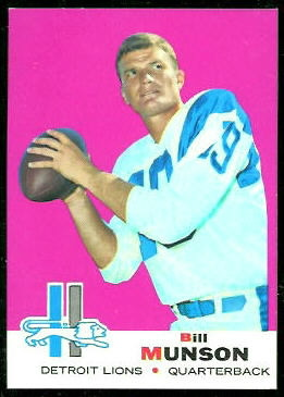 Bill Munson 1969 Topps football card