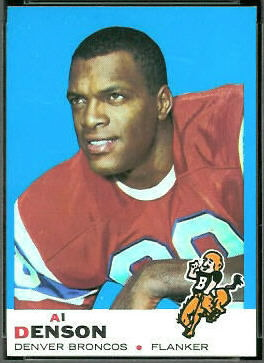 Al Denson 1969 Topps football card