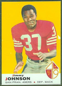 Jim Johnson 1969 Topps football card