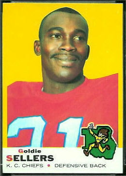 Goldie Sellers 1969 Topps football card