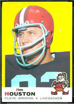 Jim Houston 1969 Topps football card