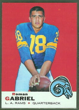 Roman Gabriel 1969 Topps football card